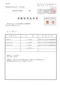0916放射性核種分析結果
